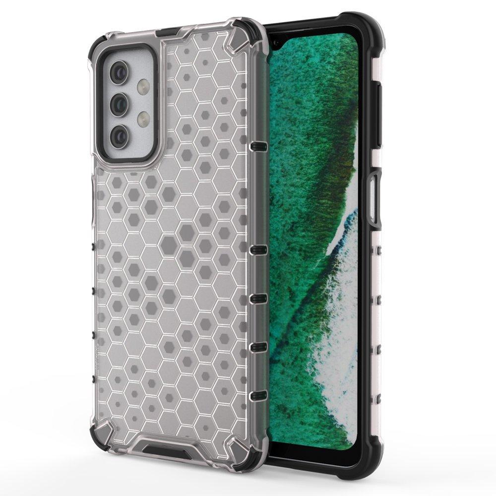 Honeycomb pancéřové pouzdro se silikonovým rámem pro Samsung Galaxy A32 5G transparent