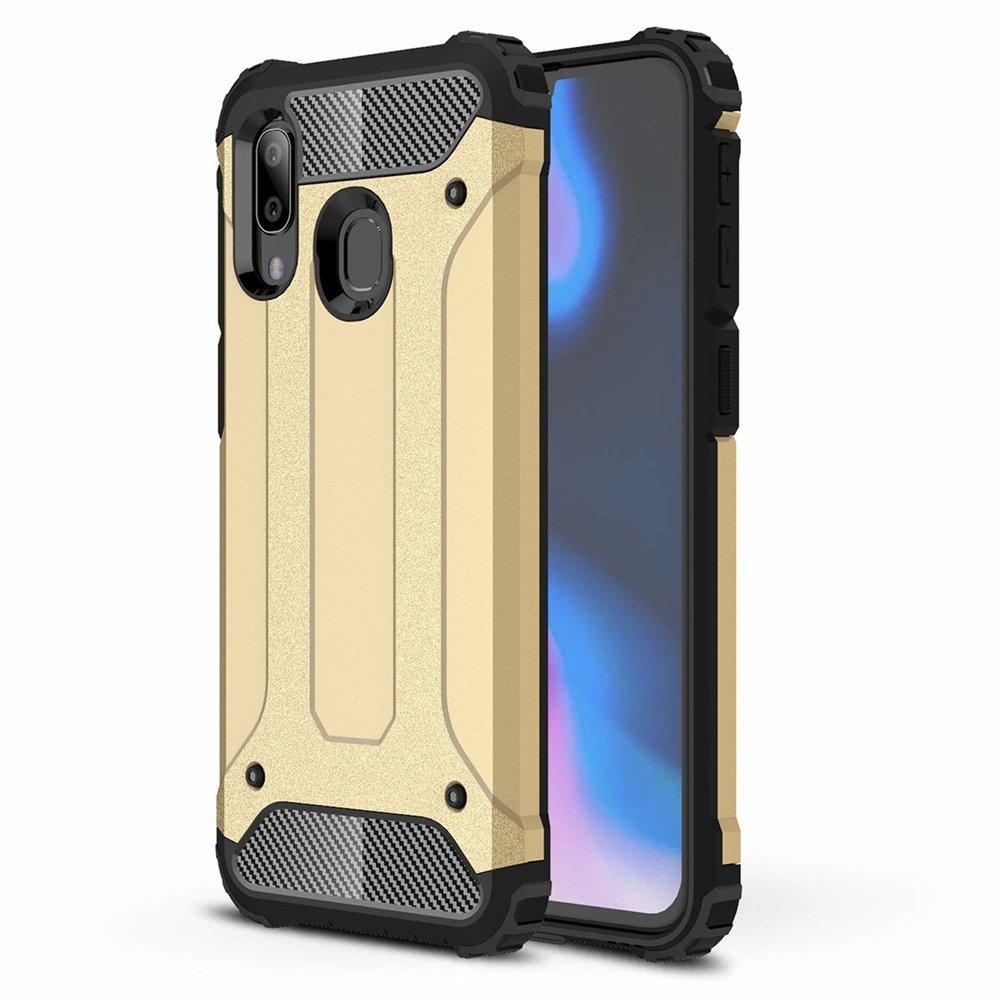 Hybrid polykarbonátové pouzdro Samsung Galaxy A40 golden