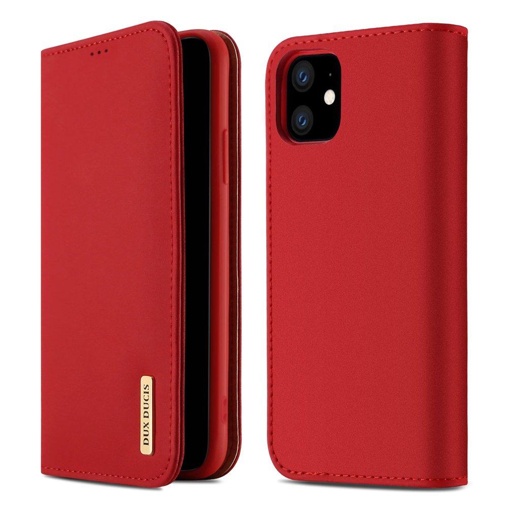 DUX DUCIS Wish kožené puzdro pre iPhone 11 red