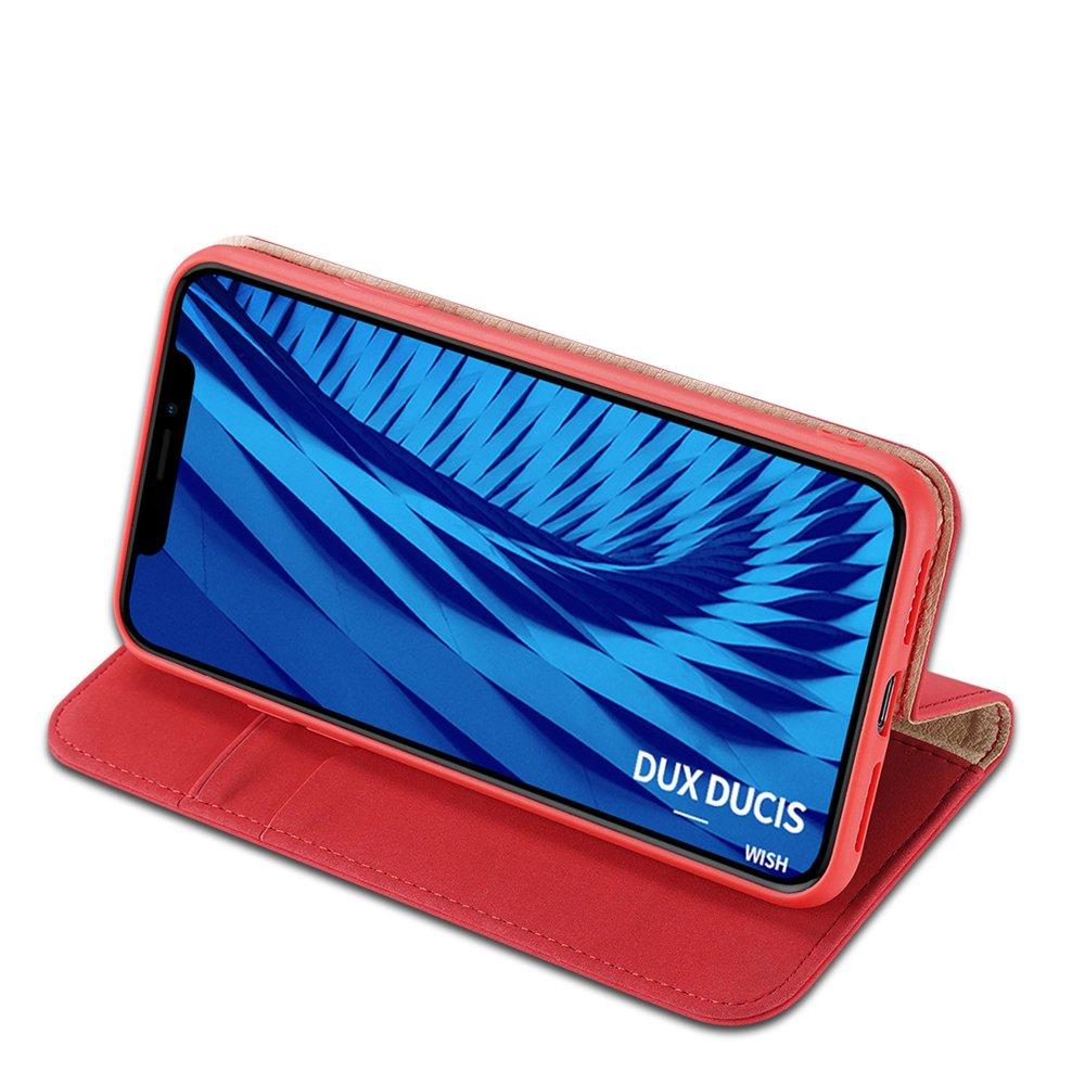 DUX DUCIS Wish kožené pouzdro na iPhone 11 red