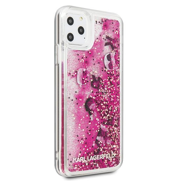 Karl Lagerfeld KLHCN65ROPIhard silikonové pouzdro iPhone 11 Pro MAX rosegold Glitter