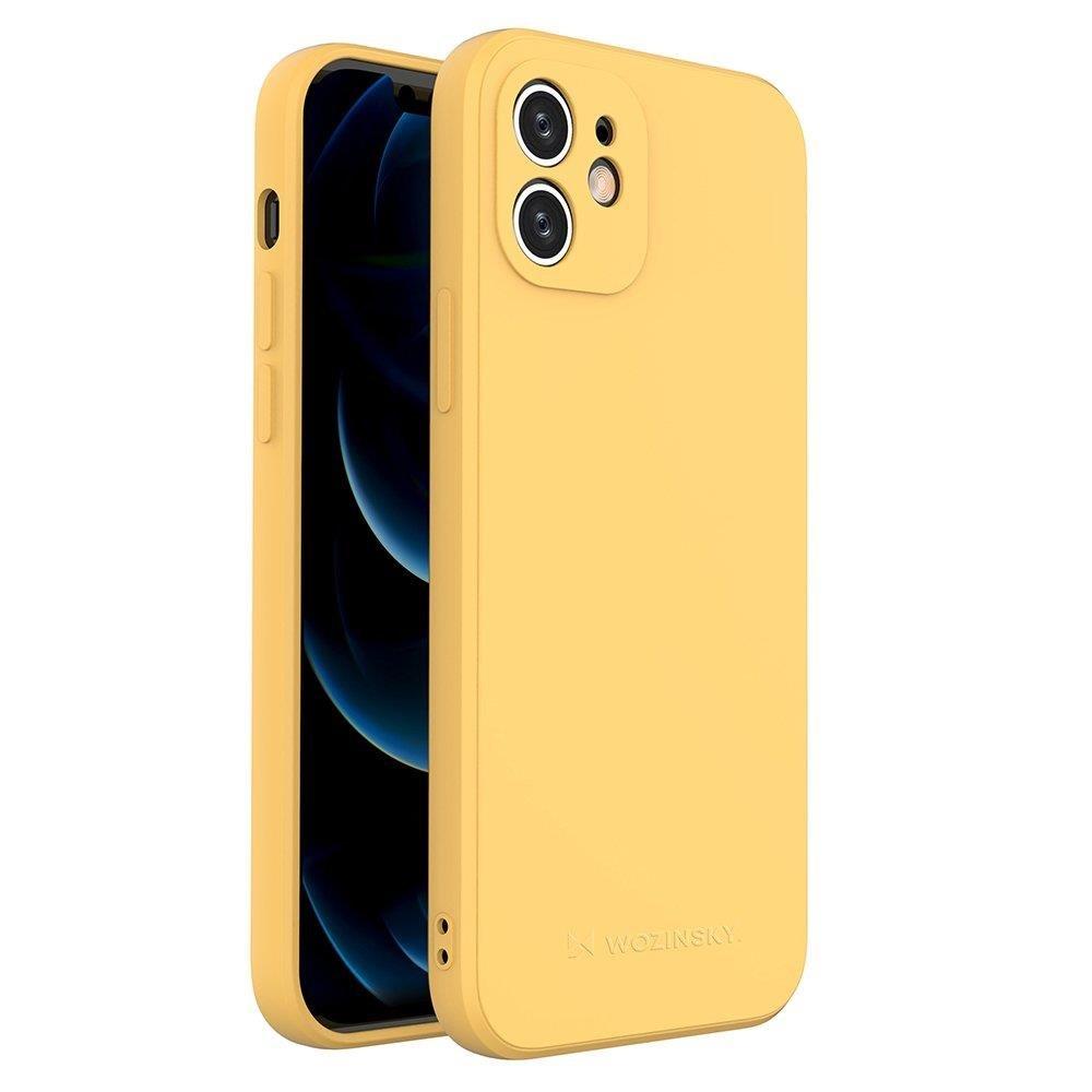 Wozinsky Color Case silikónové puzdro na iPhone SE 2020 / iPhone 8 / iPhone 7 yellow
