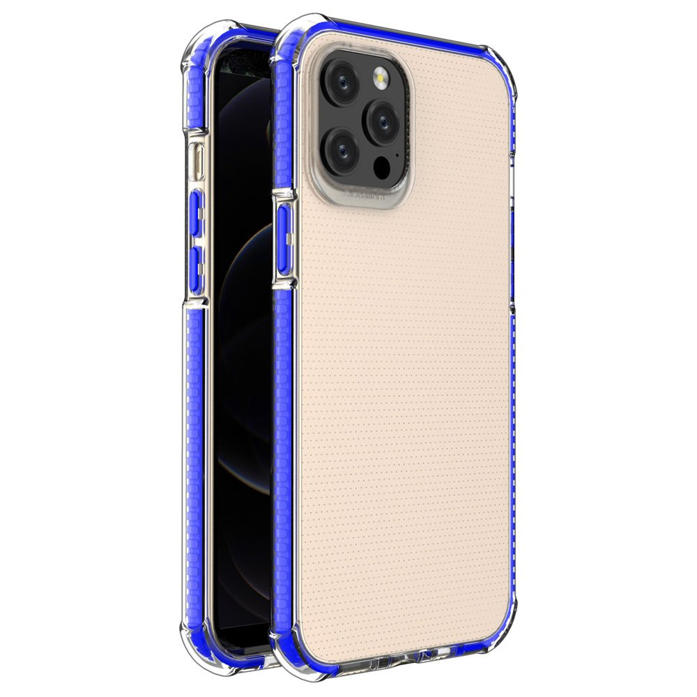 """Spring Armor silikonové pouzdro s barevným lemem na iPhone 12 Pro MAX 6,7"""" blue"""