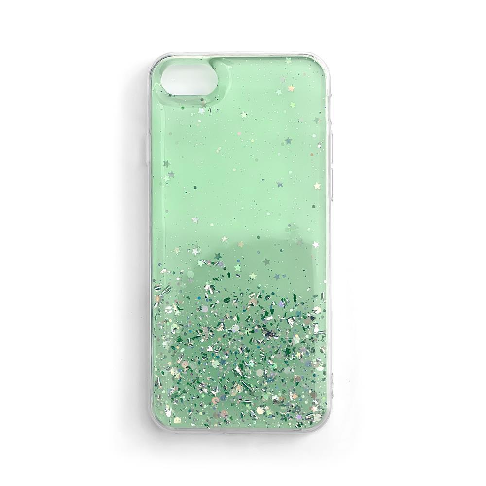 Wozinsky Star Glitter silikónové puzdro pre Samsung Galaxy S21 Ultra 5G green