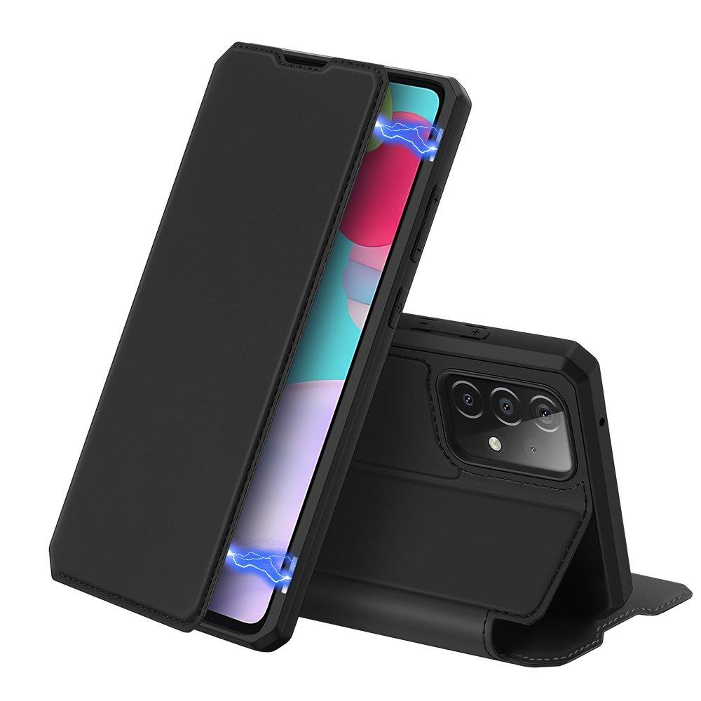 DUX DUCIS Skin X knížkové puzdro na pre Samsung Galaxy A52 / A52 5G black