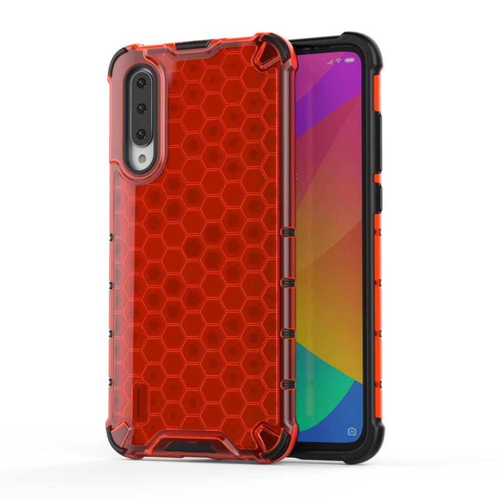 Honeycomb pancéřové pouzdro se silikonovým rámem pro Xiaomi Mi CC9e / Xiaomi Mi A3 red
