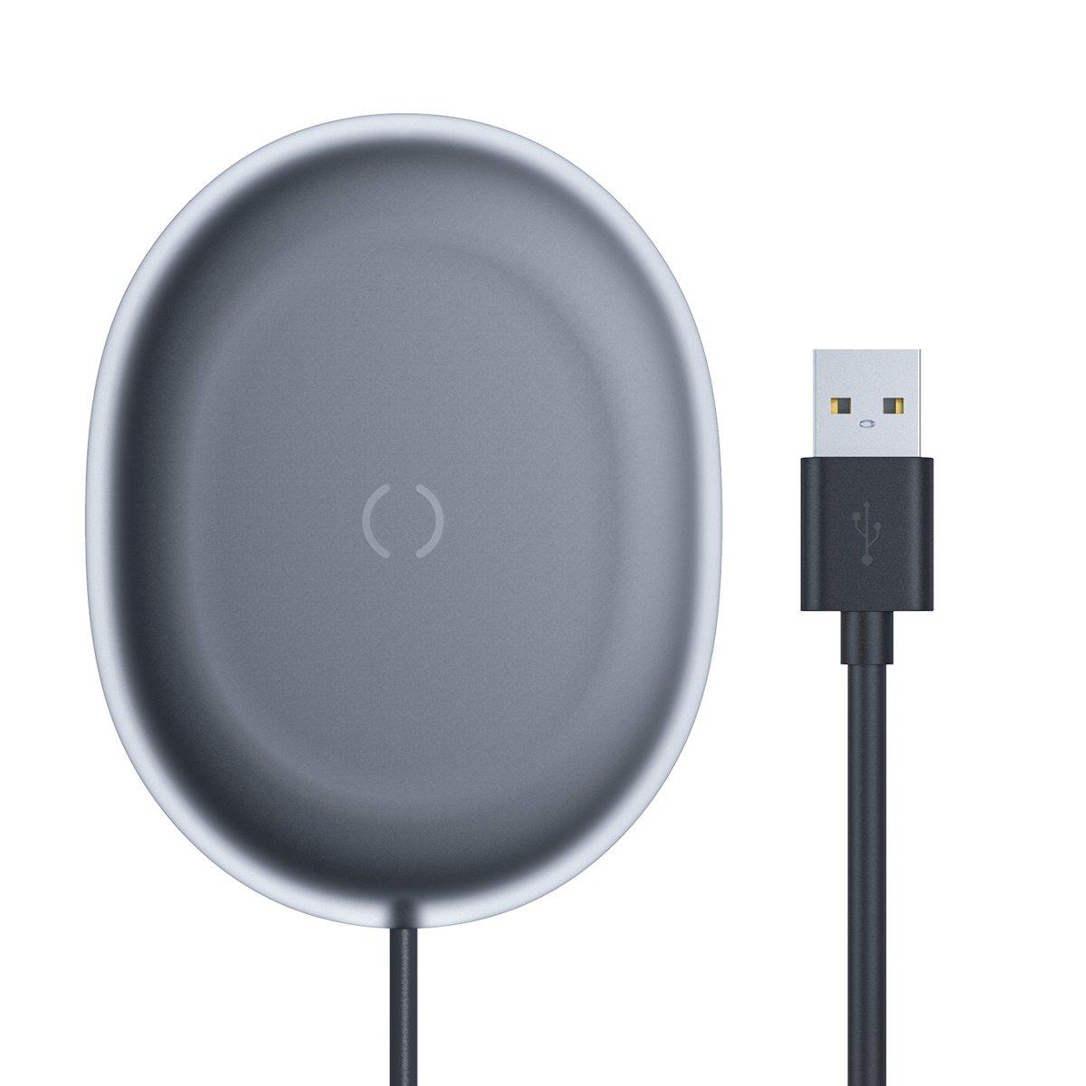 Baseus Jelly bezdrátová nabíječka Qi 15W Black + kabel USB-C