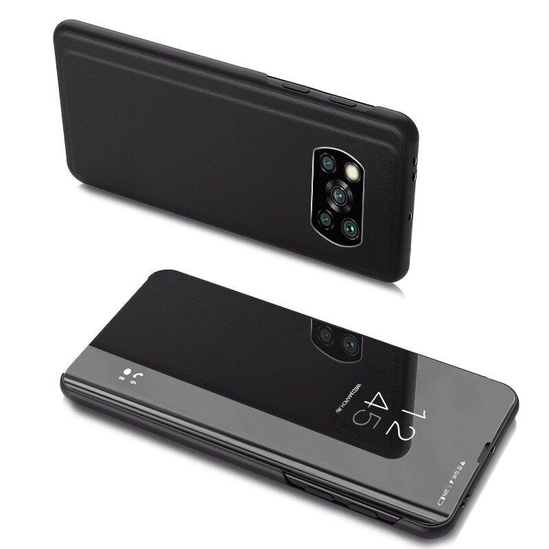Knížkové pouzdro na Xiaomi Poco X3 Pro / X3 NFC s průhlednou přední stranou black
