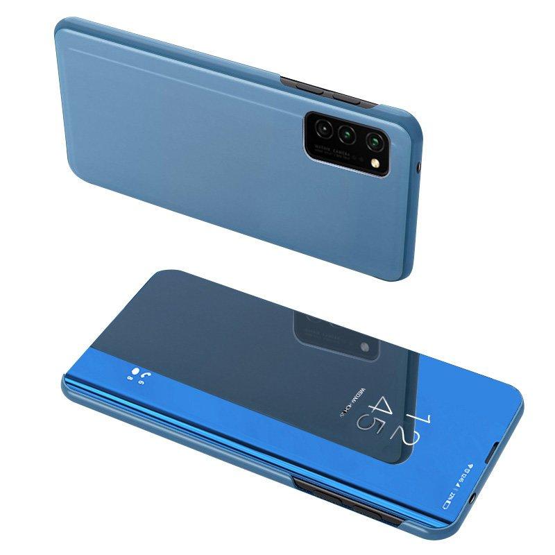 Knížkové pouzdro na Samsung Galaxy A02s s průhlednou přední stranou blue