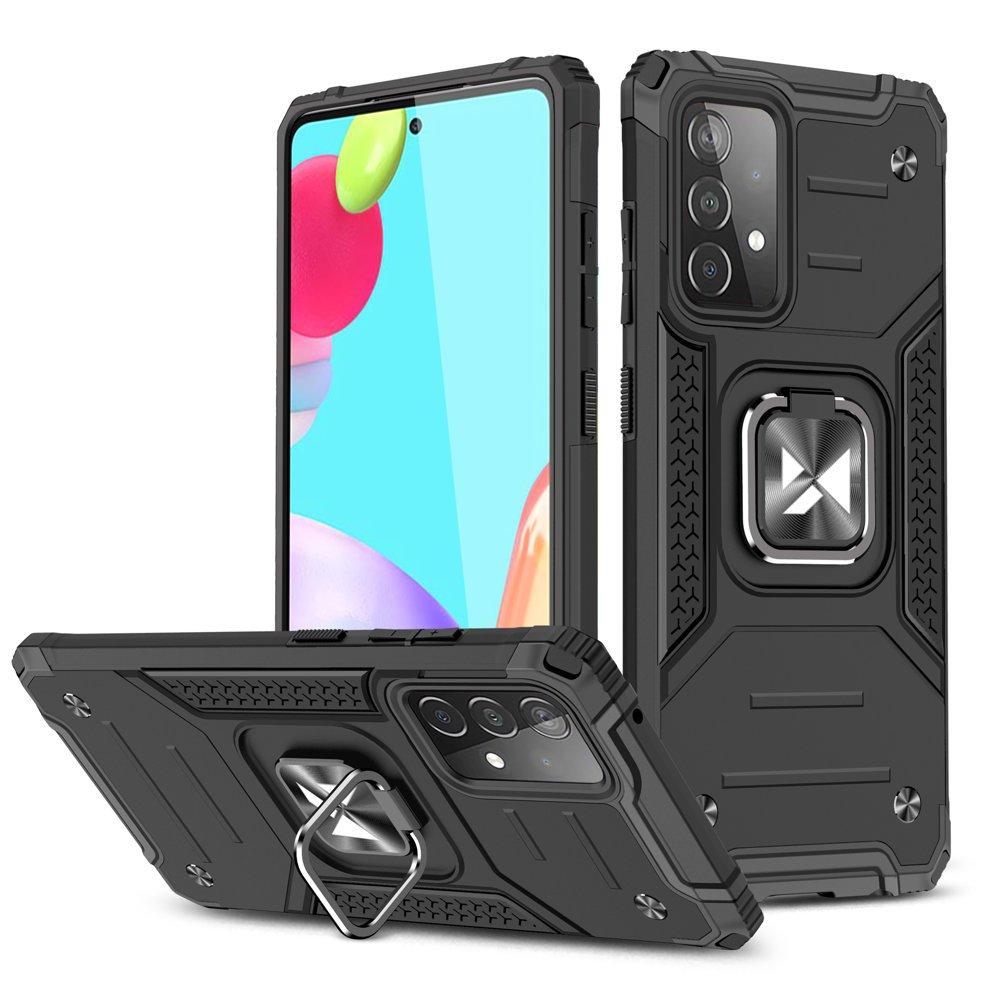 Wozinsky Hybrid pancierové púzdro s krúžkom pre Samsung Galaxy A52 black