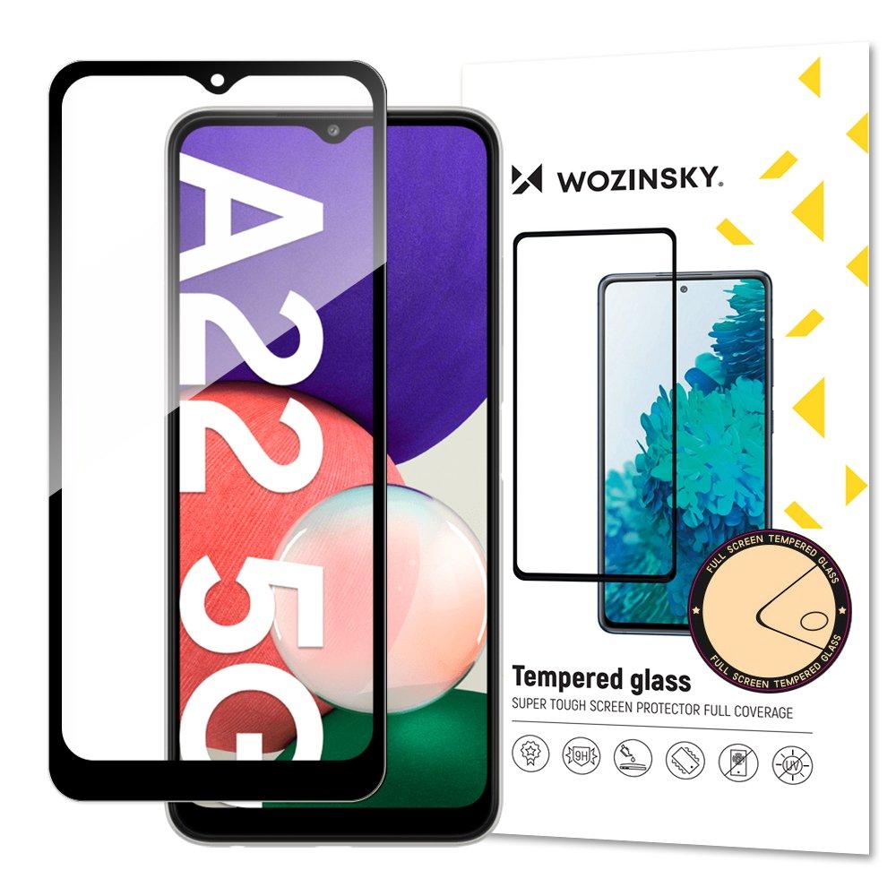 Wozinsky celoplošné temperované tvrdené sklo pre Samsung Galaxy A22 5G black