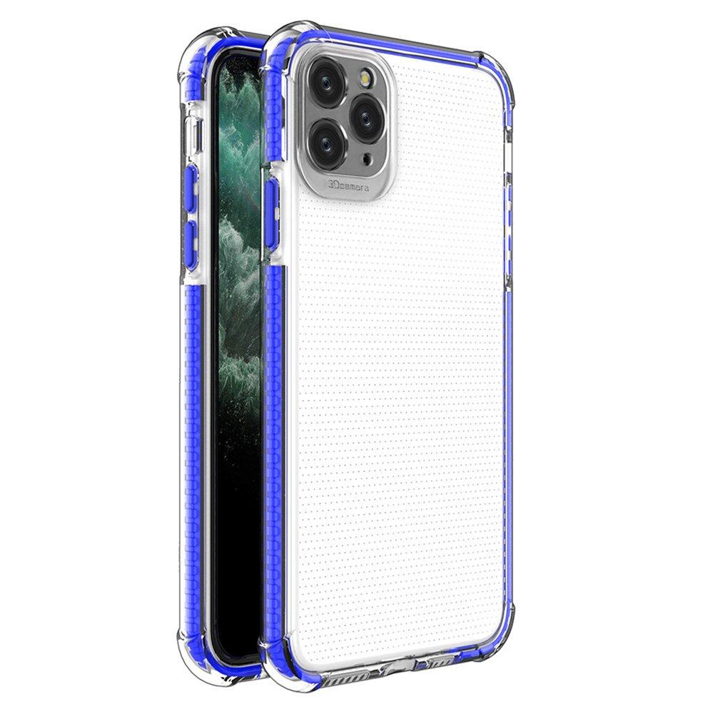 Spring Armor silikonové pouzdro s barevným lemem na iPhone 11 Pro Max blue