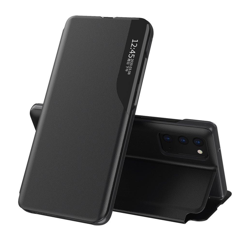 Knížkové puzdro s imitáciou kože pre Samsung Galaxy A12/M12 black
