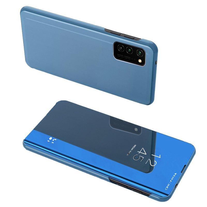 Knižkove púzdro pre Samsung Galaxy A72 blue s priehľadnou prednou stranou