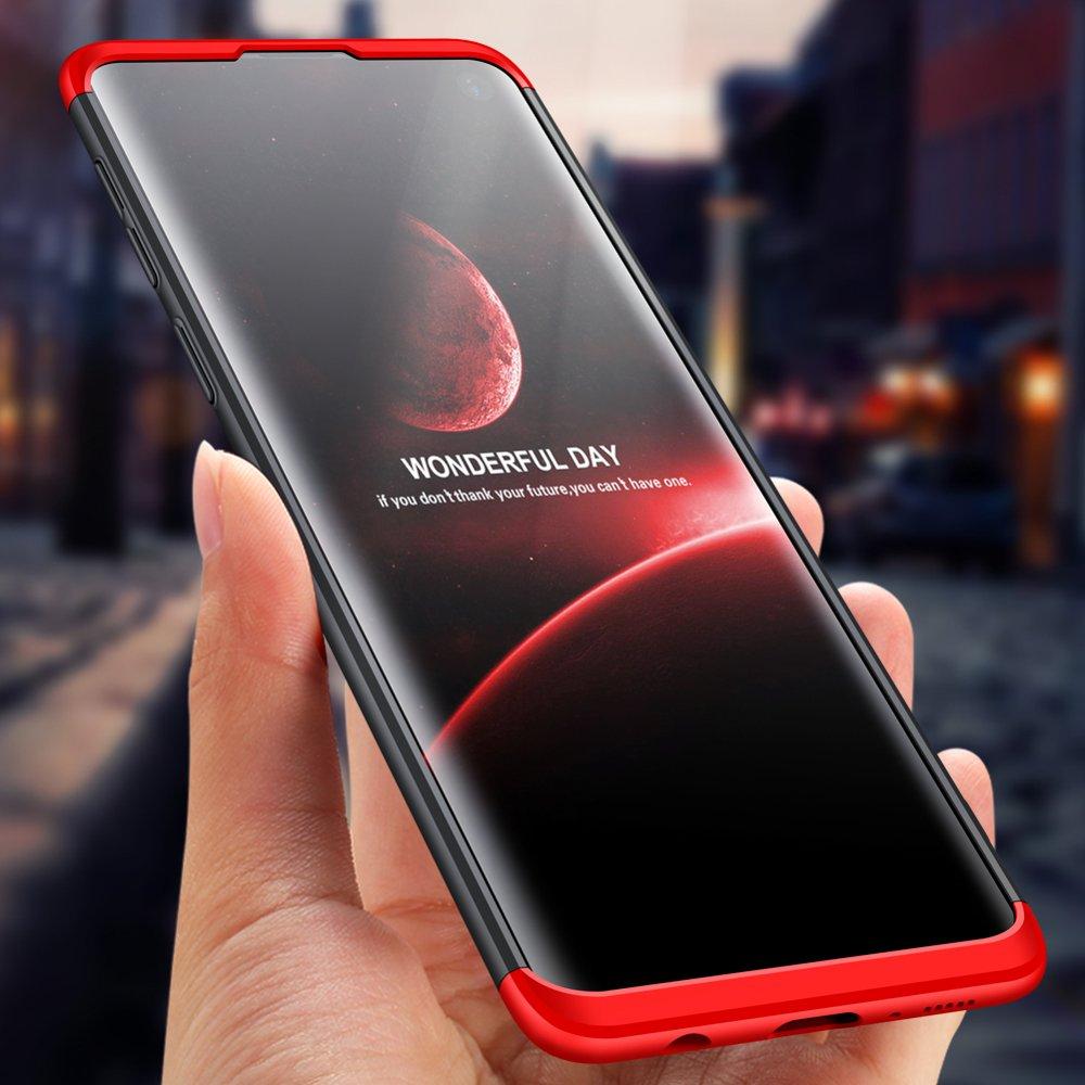 GKK 360 Protection pouzdro pro Samsung Galaxy S10 Plus black-red