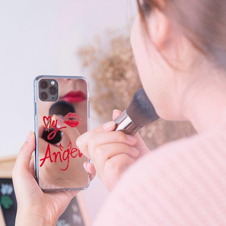 Kingxbar silikonové pouzdro s original Swarovski crystals na iPhone 11 Pro Max Angel Series-Lipstick