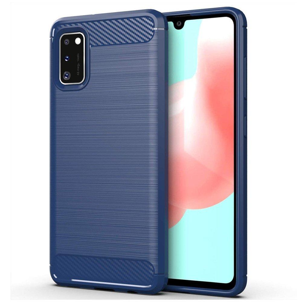 Carbon silikónové puzdro na Samsung Galaxy A41 blue
