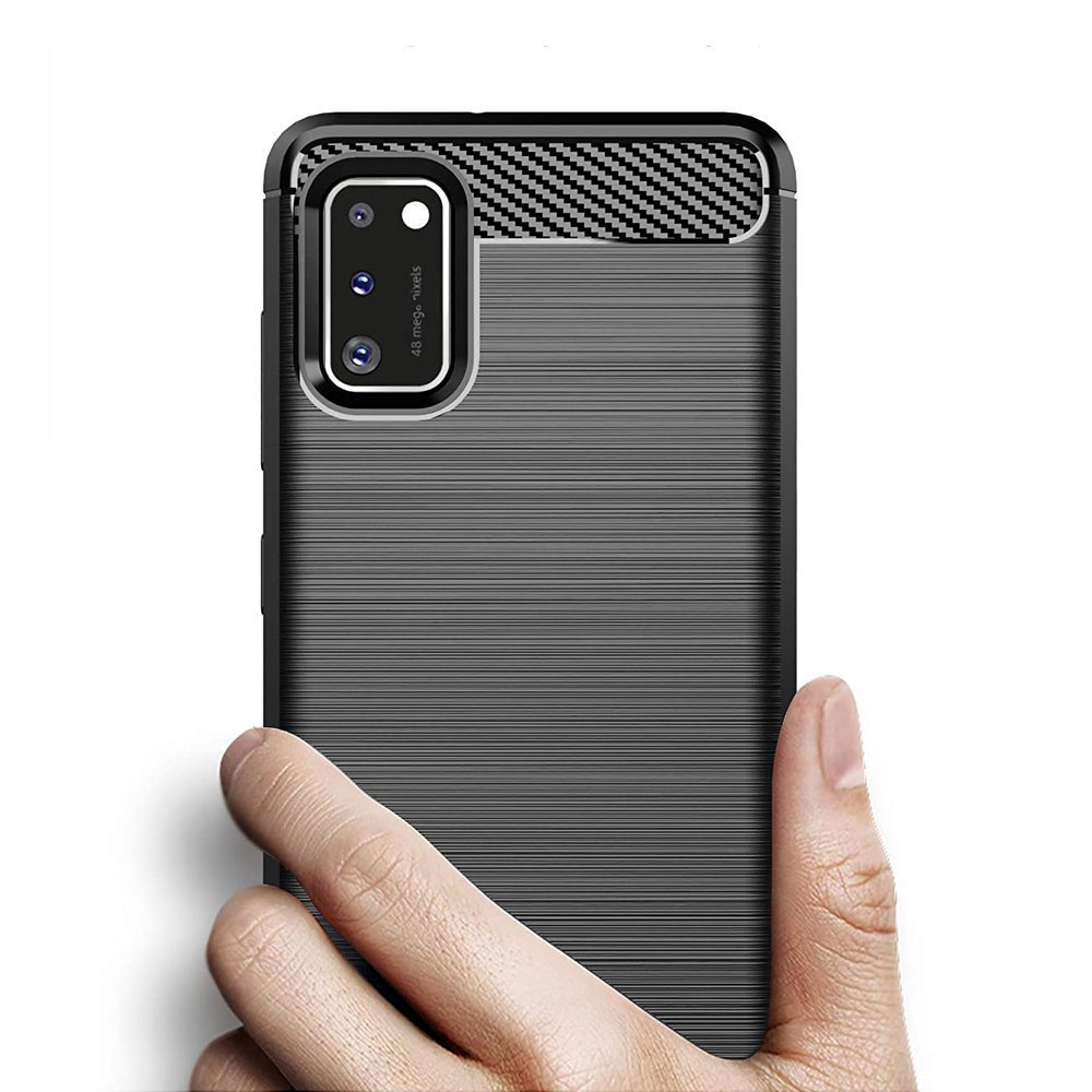Carbon silikonové pouzdro na Samsung Galaxy A41 blue