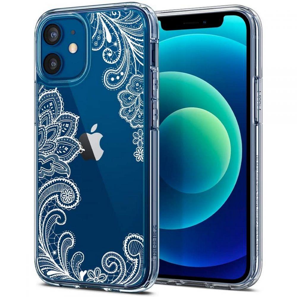 "Spigen Cyrill Cecile silikonové pouzdro na iPhone 12 Mini 5.4"" White Mandala"