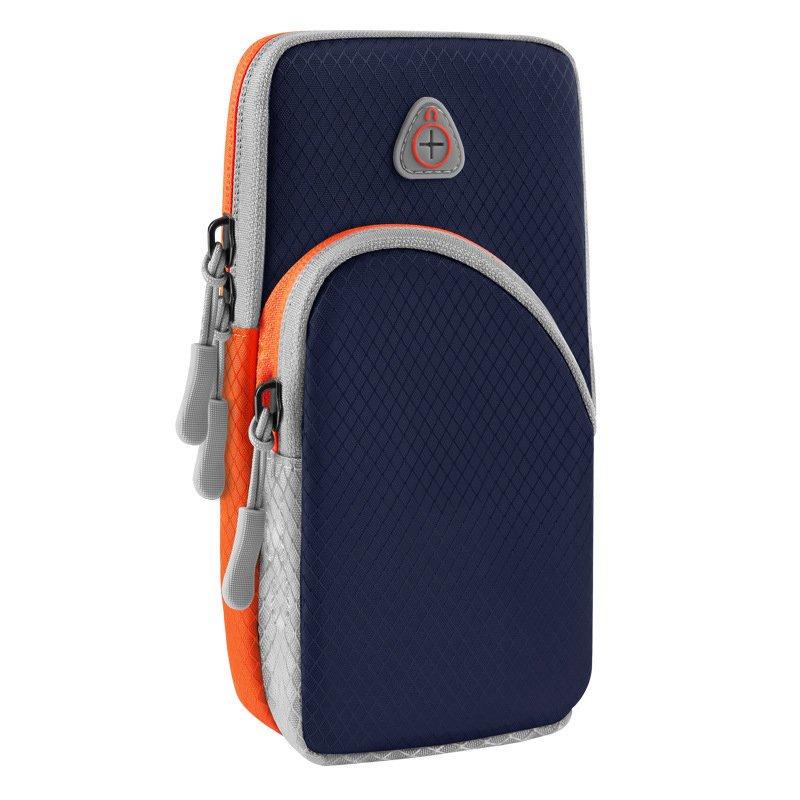 Běžecké pouzdro pro mobil na ruku, univerzální ciemno, modrá 9111201926219
