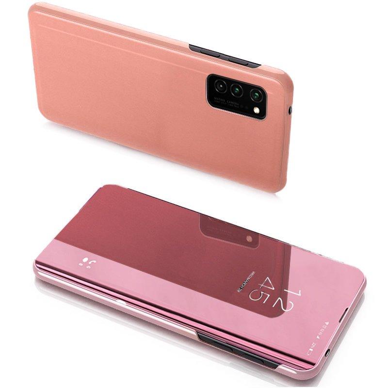 Knižkove púzdro pre Samsung Galaxy Note 20 s priehľadnou prednou stranou pink
