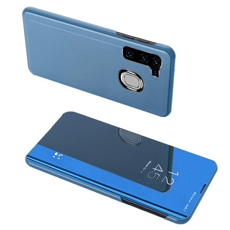 Knižkove púzdro pre Samsung Galaxy A11 / Galaxy M11 s priehľadnou prednou stranou blue