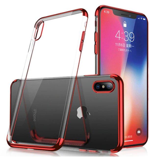 Gelové pouzdro s metalickým rámečkem pro Samsung Galaxy A50s / Galaxy A50 / Galaxy A30s červená 7426825371928