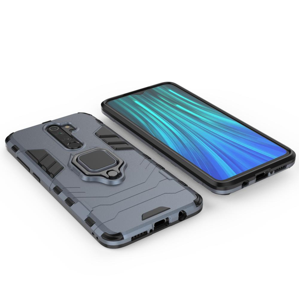 Hybrid pancierové polykarbonátové púzdro s krúžkom pre Xiaomi Redmi Note 8 PRO blue