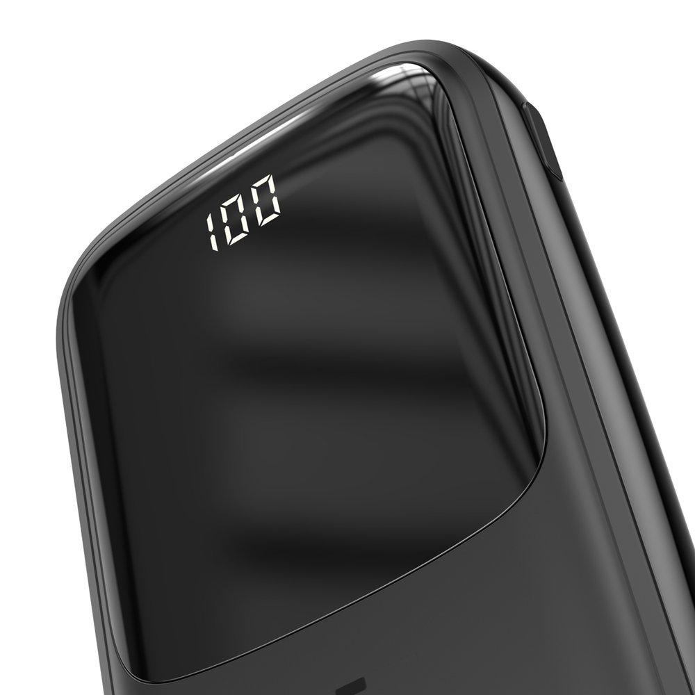 Baseus Q pow Digital Display 3A Power Banka 10000mAh s káblom Lightning Black