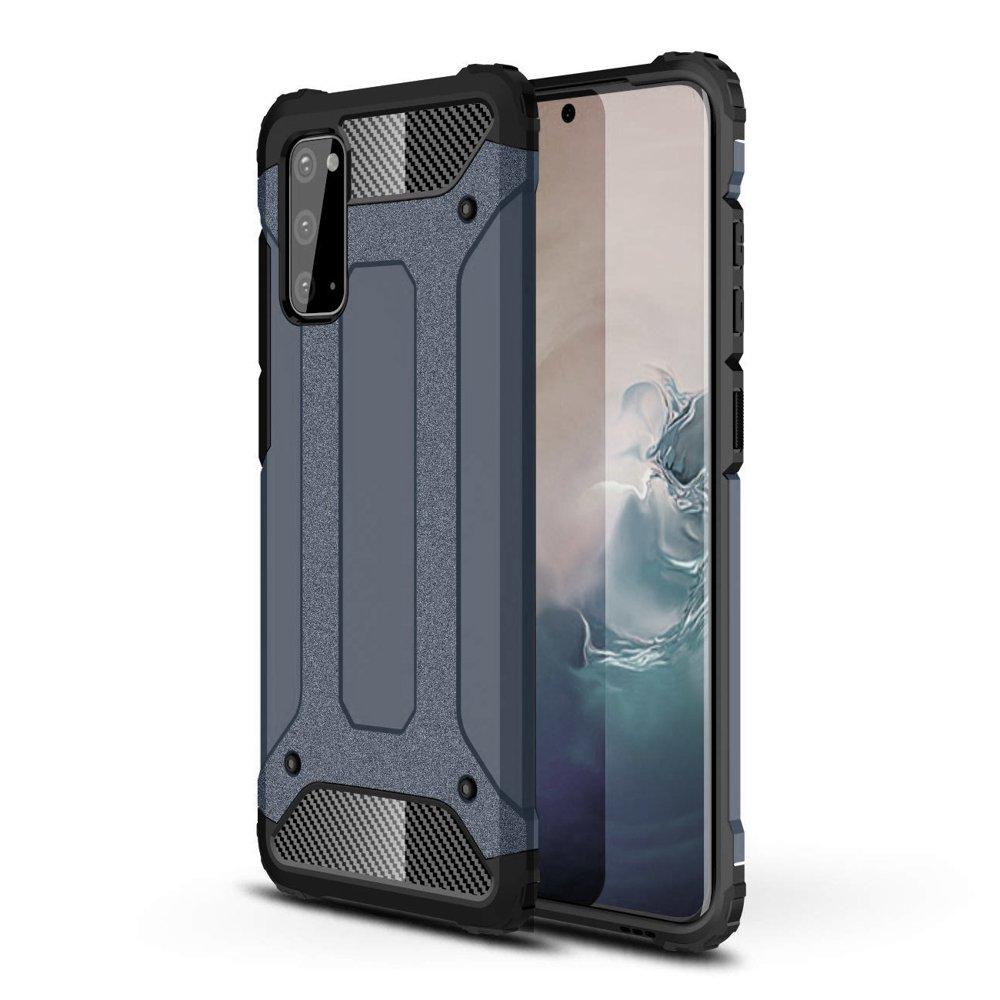 Hybrid pancéřové polykarbonátové pouzdro na Samsung Galaxy A41 blue