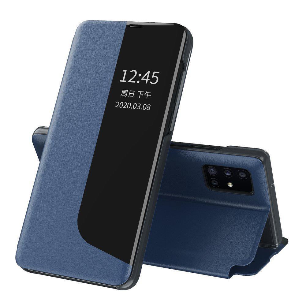 Knížkové puzdro s imitáciou kože pre Huawei P40 Lite E blue