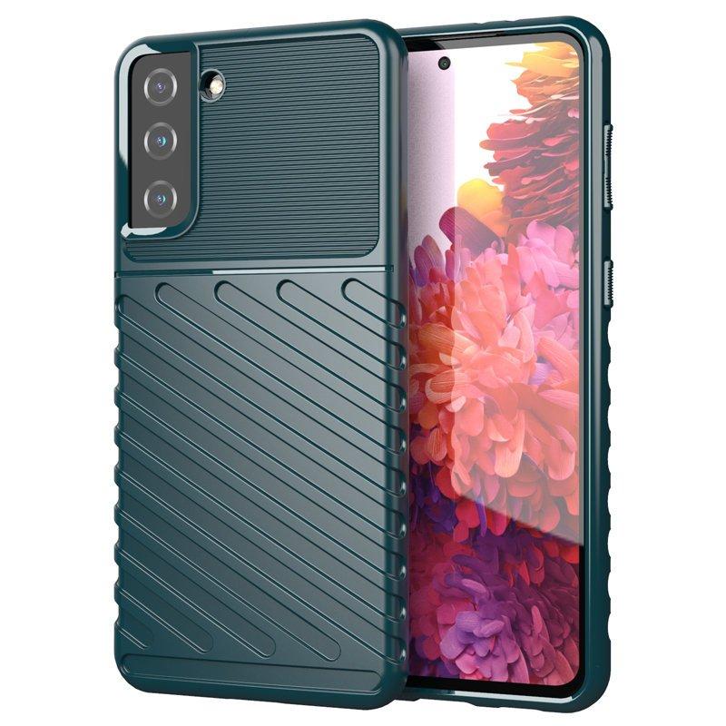 Thunder silikónové puzdro pre Samsung Galaxy S21 PLUS 5G green