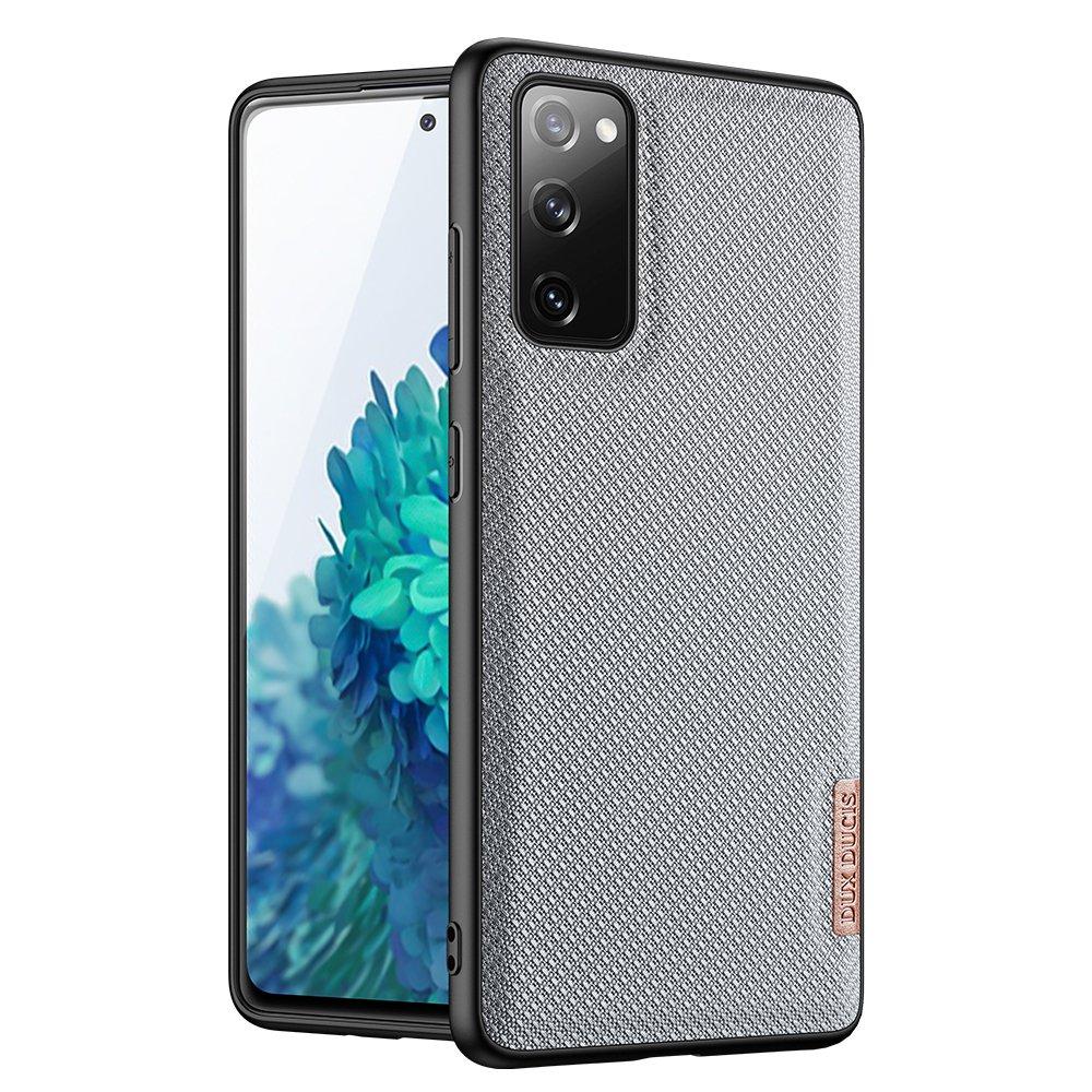 Luxusní pouzdro Dux Ducis Fino Nylon ,  Samsung Galaxy S20 FE 5G , modrá 6934913055885