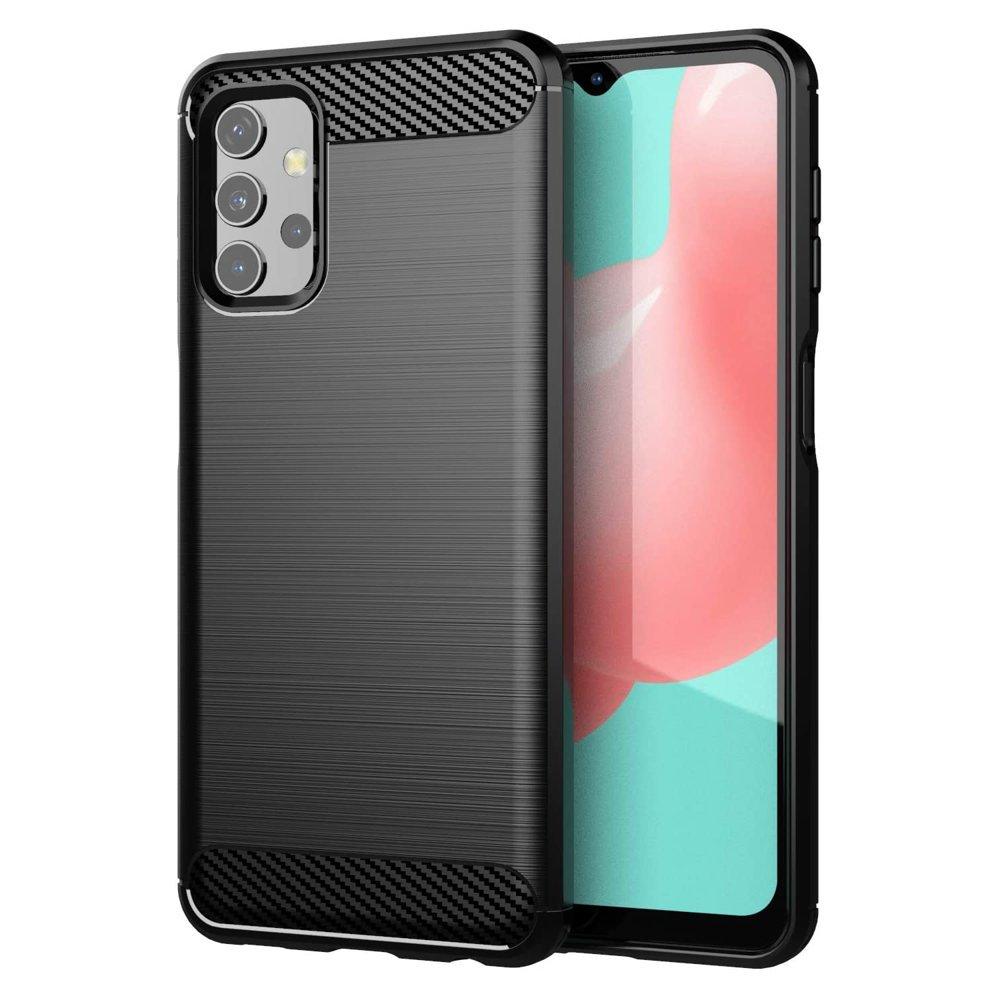 Karbonový kryt na mobil Samsung Galaxy A32 4G , černá