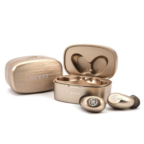 Guess GUTWSJL4GGO TWS Bluetooth slúchadlá + dokovacia stanica Gold / Gold 4G