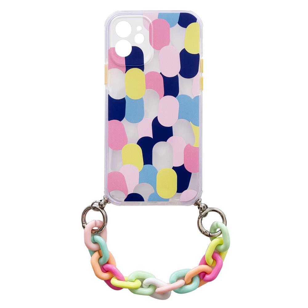 Silikónové puzdro s retiazkou na iPhone 8 Plus / iPhone 7 Plus multicolour