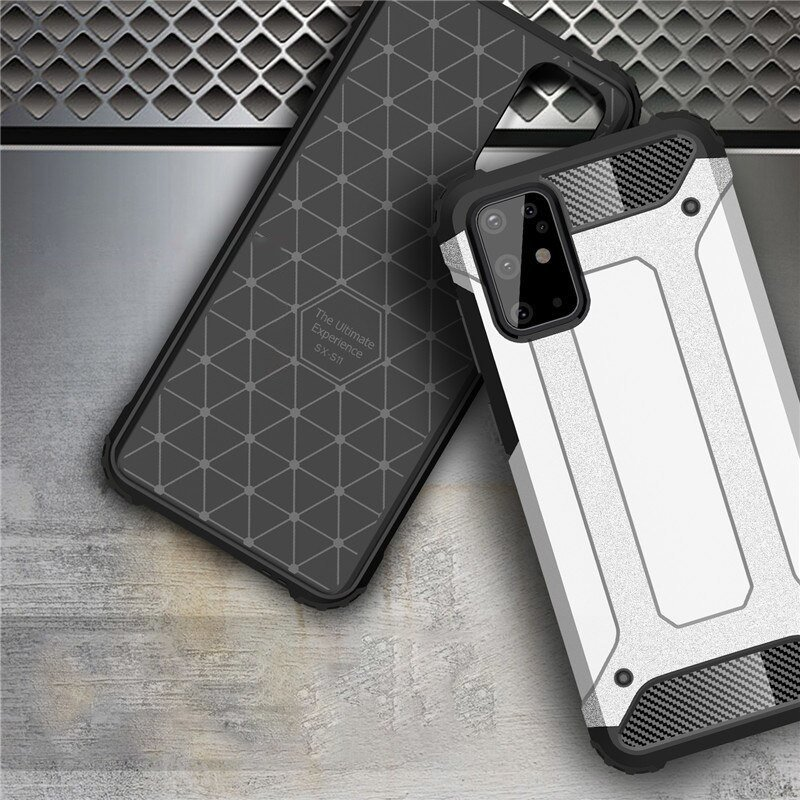 Hybrid pancéřové polykarbonátové pouzdro na Samsung Galaxy S20 Ultra silver