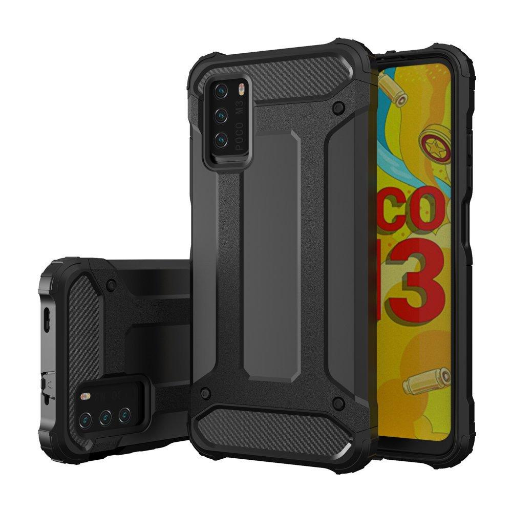 Hybrid Armor Case odolné pouzdro pro Xiaomi Poco M3 / Xiaomi Redmi 9T , černá 9111201925823