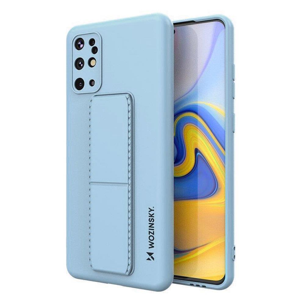 Wozinsky Flexibilné silikónové puzdro so stojanom naSamsung Galaxy S20 PLUS light blue