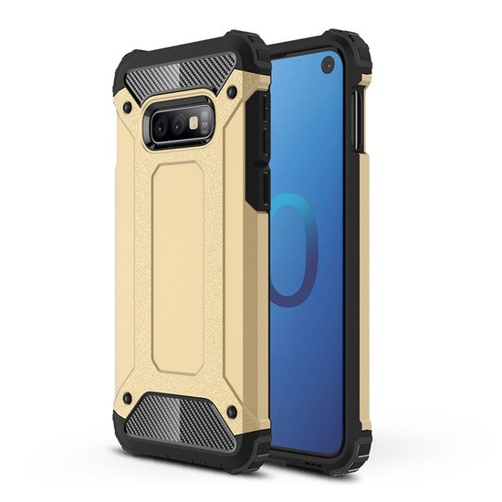 Hybrid polykarbonátové pouzdro pro Samsung Galaxy S10e golden