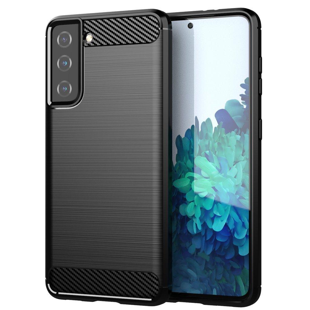 Carbon silikonové pouzdro na Samsung Galaxy S21 5G black