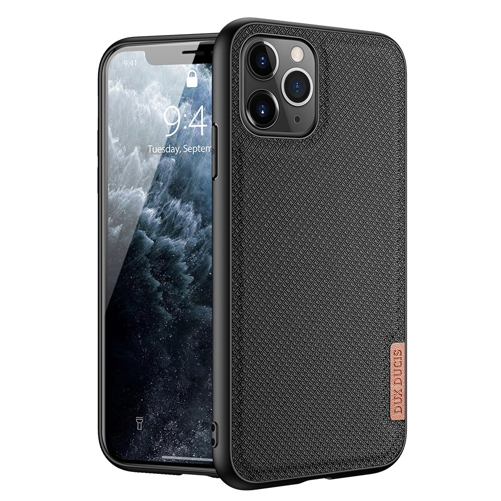 Luxusní pouzdro Dux Ducis Fino Nylon ,  iPhone 11 Pro , černá 6934913053447