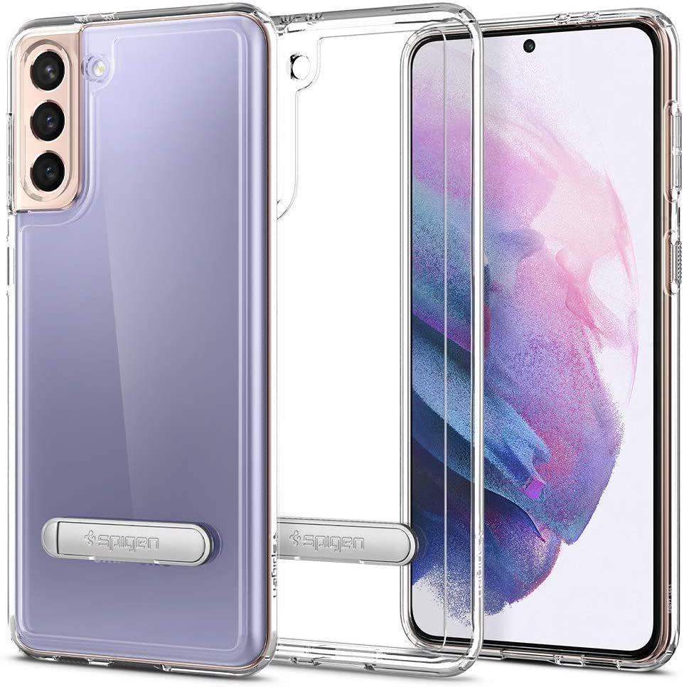 "Spigen Ultra Hybrid ""S"" pouzdro na Samsung Galaxy S21 PLUS Crystal Clear"
