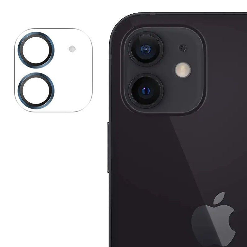 """Joyroom JR-PF687 štýlové ochranné sklo na celý fotoaparát iPhone 12 6,1"""" blue"""