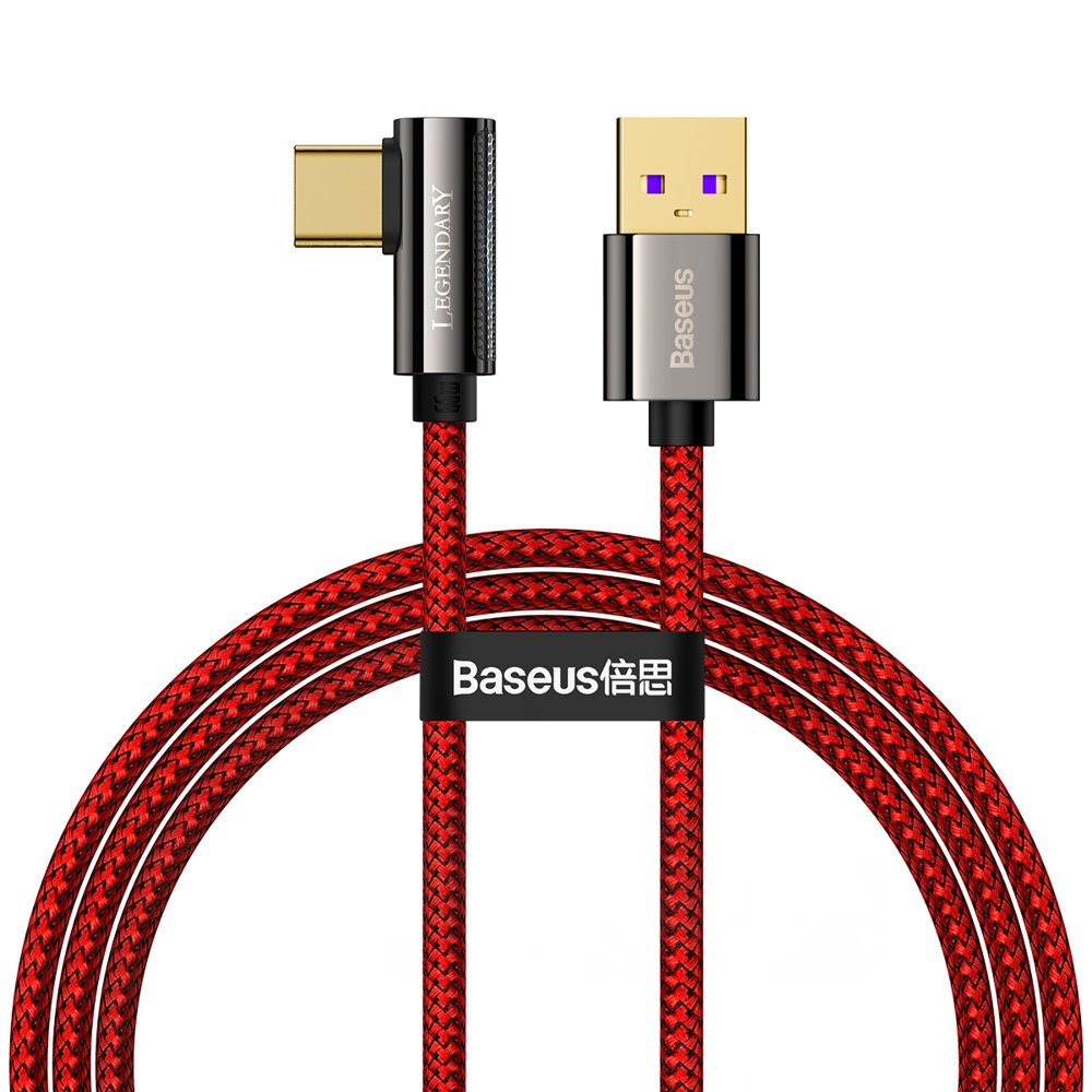Baseus Legend extra odolný nylonem opletený kabel USB / USB-C 66W 1m red