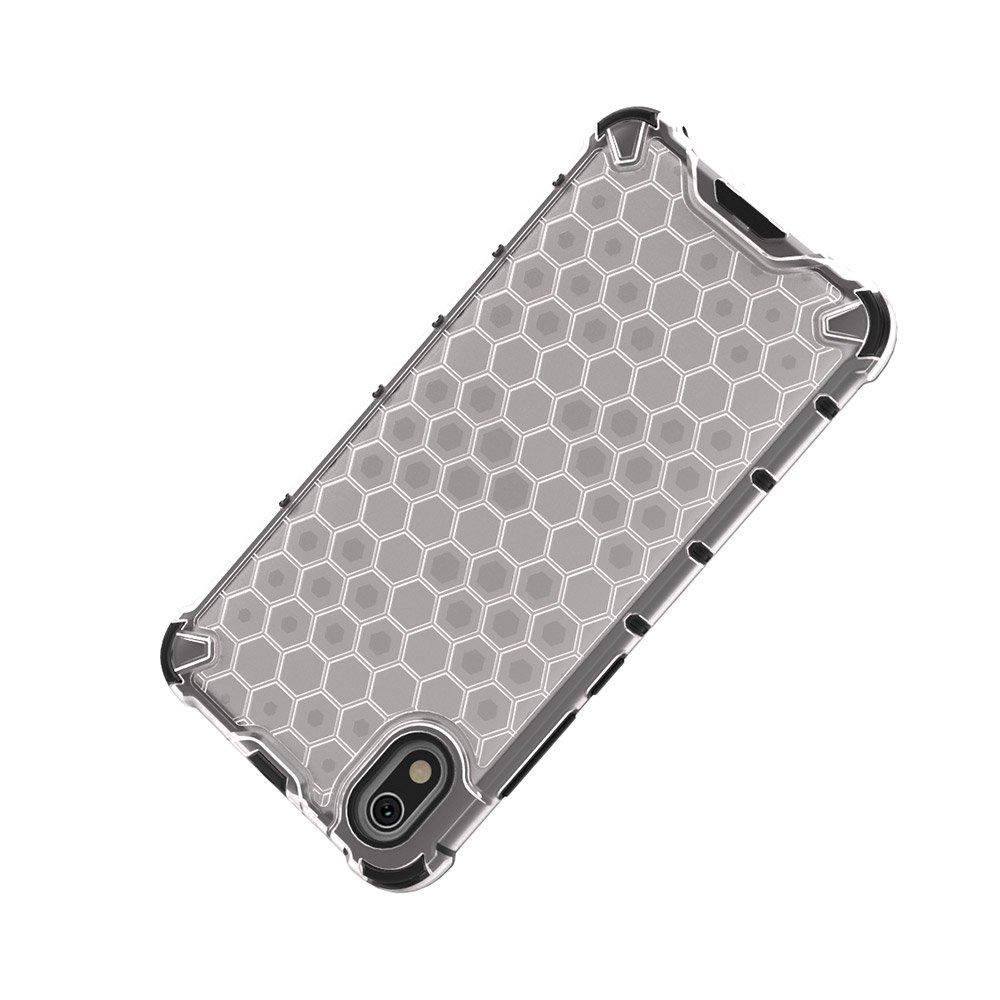 Honeycomb panceřové pouzdro se silikonovým rámem pro Xiaomi Redmi 7A transparent
