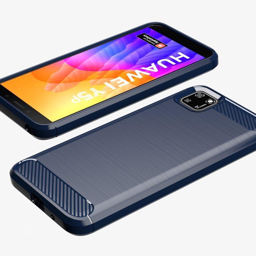 Carbon silikonové pouzdro na Huawei Y5p black