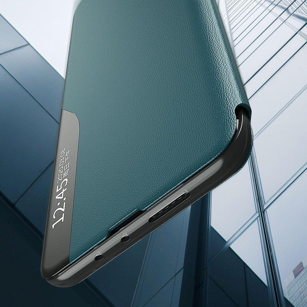 Knížkové pouzdro s imitací kůže na Samsung Galaxy A71 blue