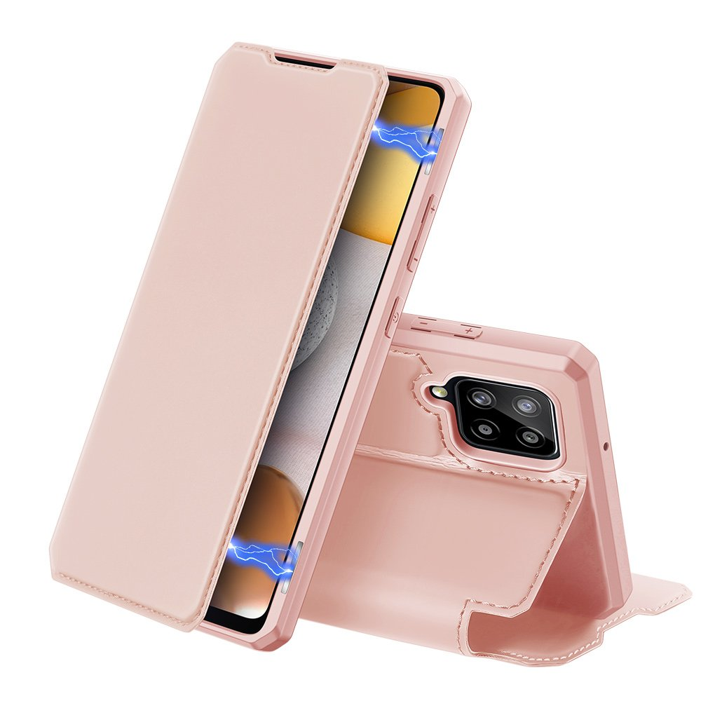 DUX DUCIS Skin X knížkové puzdro pre Samsung Galaxy A42 5G pink
