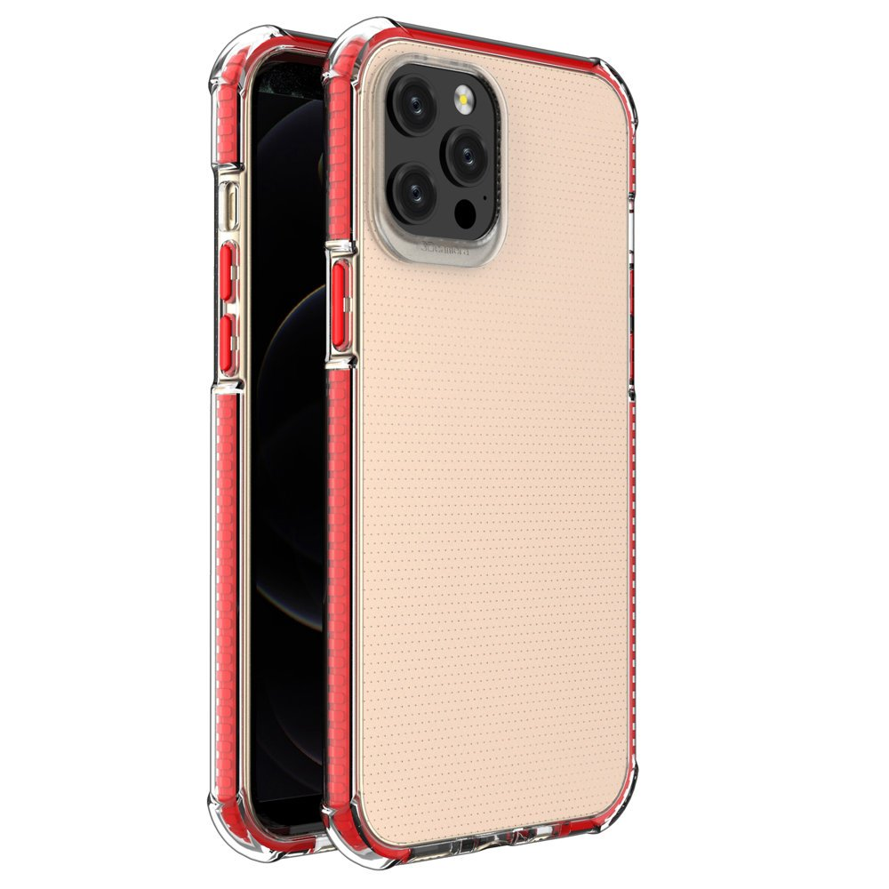 "Spring Armor silikonové pouzdro s barevným lemem na iPhone 12 Pro MAX 6,7"" red"